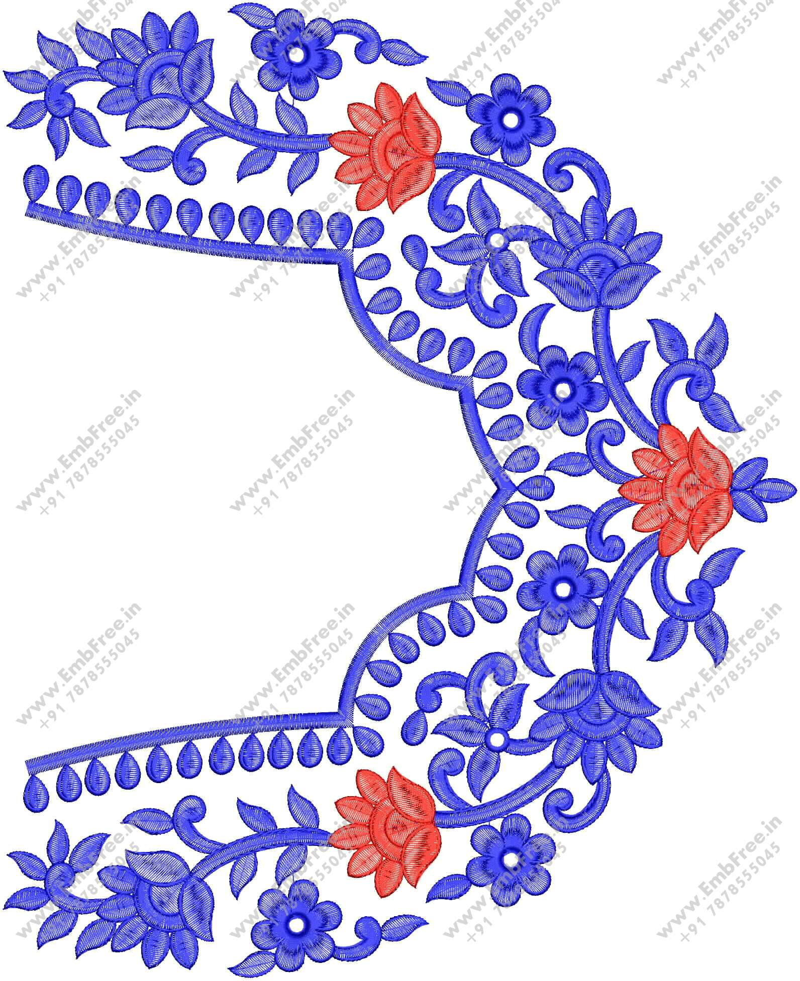 Blouse Embroidery design   Neck Embroidery Design
