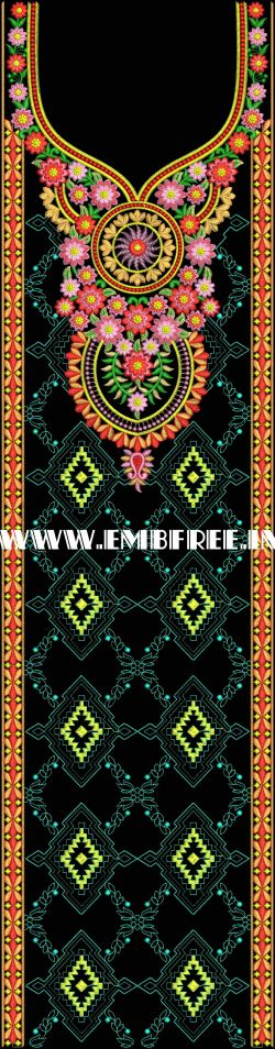Dress Central Panel Embroidery Design dress central panel, neck embroidery design